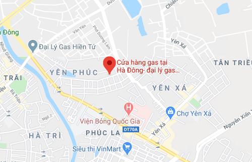 Cửa hàng gas tại Hà Đông